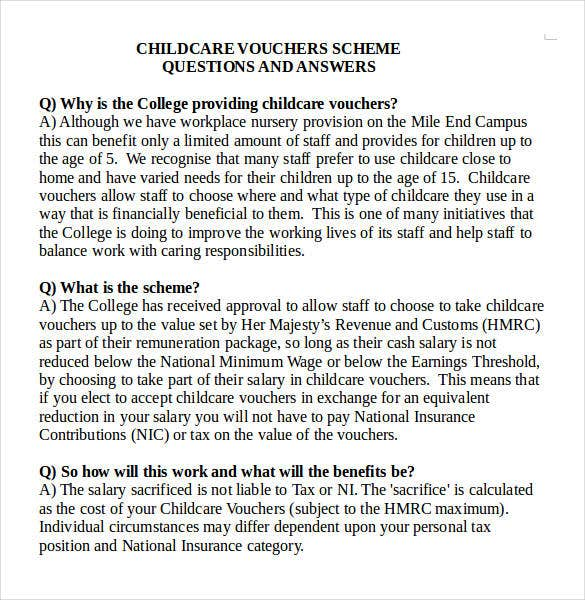 child care voucher template free ms word