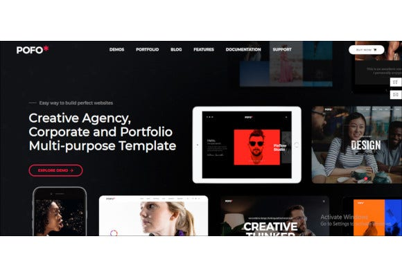 creative agency portfolio multi purpose template