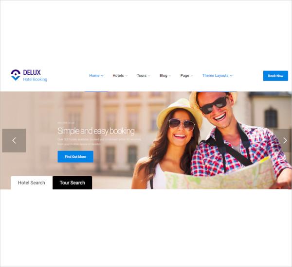 deluxe online hotel booking wordpress theme