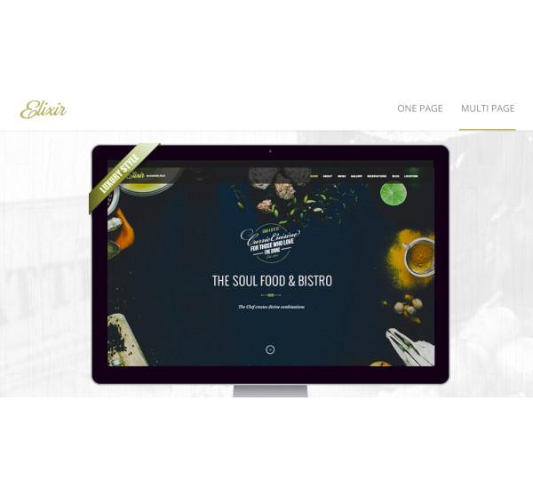 elixir restaurant html responsive template