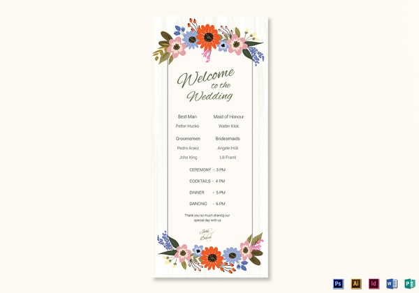 flower-wedding-program