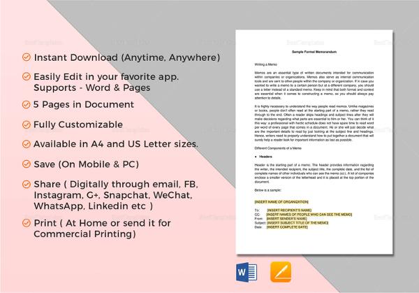 formal-memorandum-template