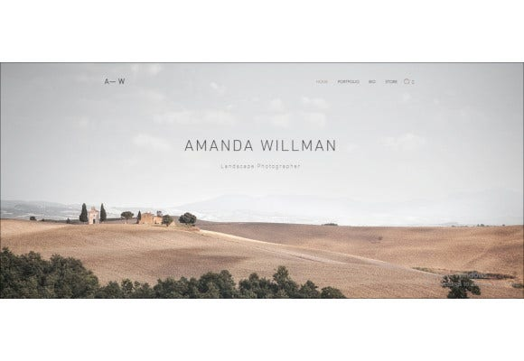 free design photography website template