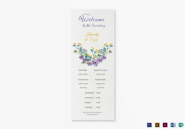 garden-wedding-program-card