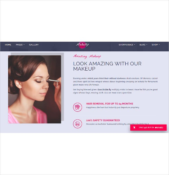 makeup wordpress html5 theme