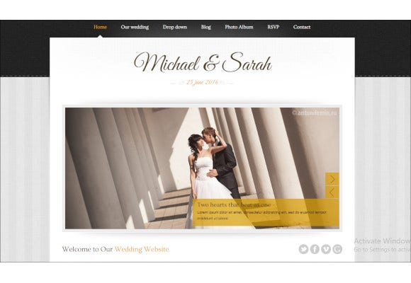 marriage responsive wedding template
