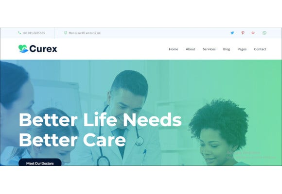 medical clinic service html template