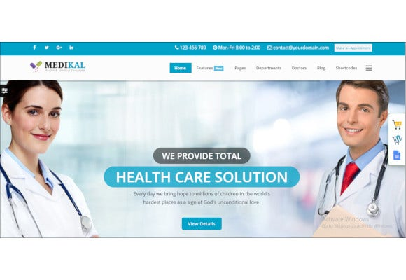 medical medical health template