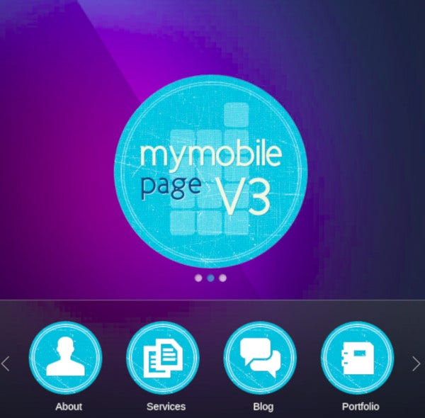 mobile page v3 wordpress theme