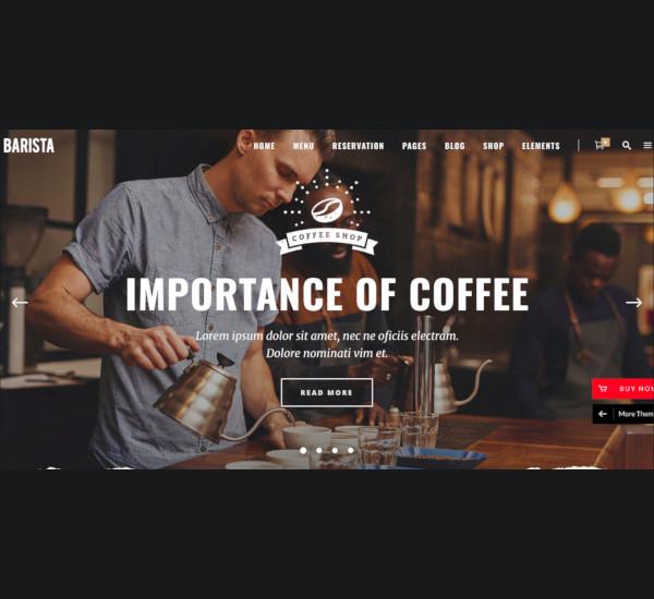 modern cafes coffee wordpress theme