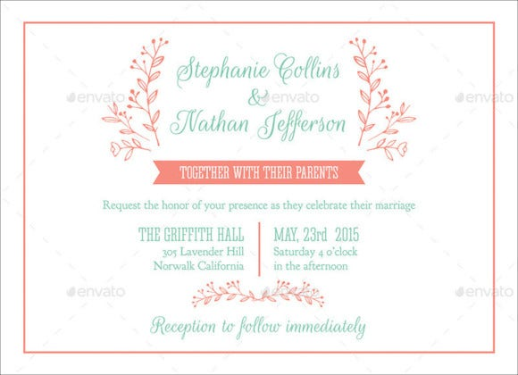modern wedding invitation card template psd
