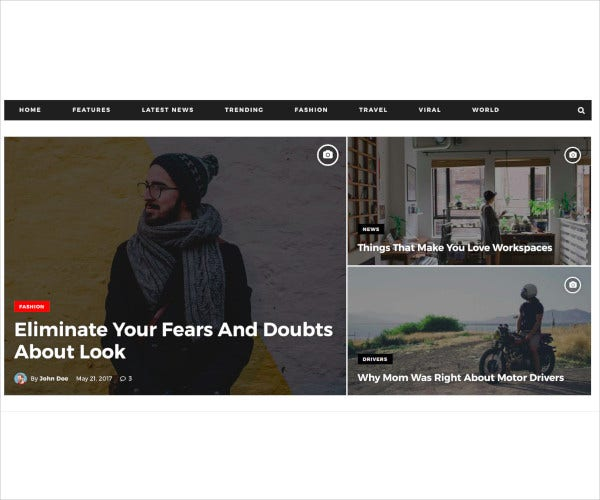 news editorial magazine drupal 8 theme