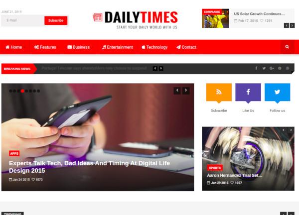 news magazine joomla template