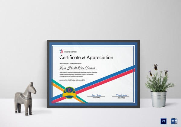 Organization Certificate Of Appreciation Template