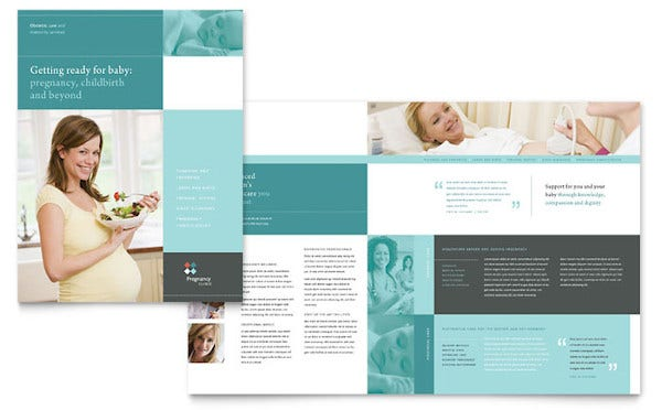 pregnancy clinic brochure template