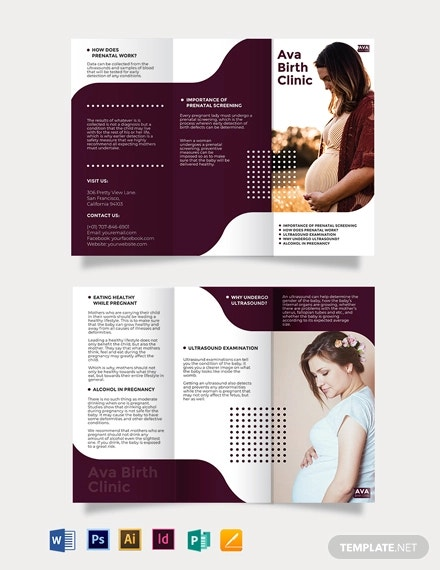 pregnancy tri fold brochure template