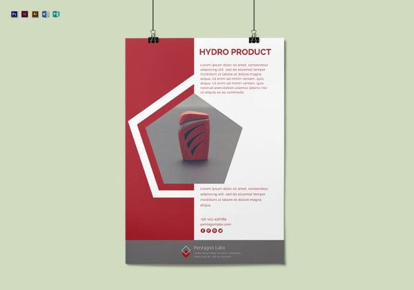 printable product advertisement poster template