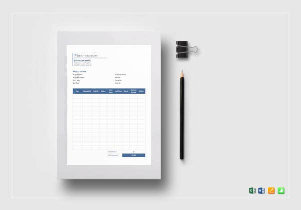 project timesheet template1
