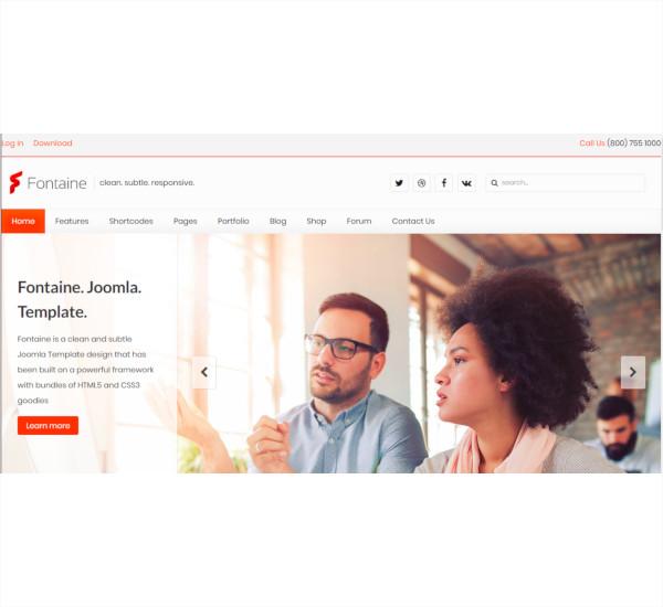 responsive business joomla template