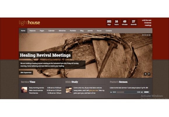 responsive charity church joomla template1