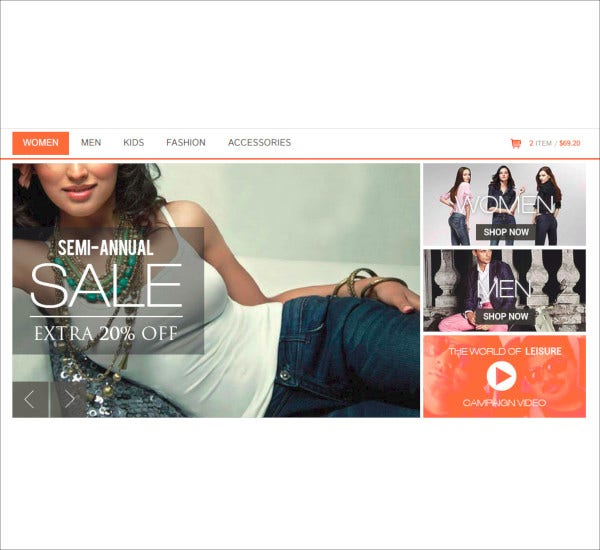 responsive e commerce html5 template