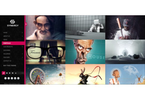 responsive interactive html portfolio
