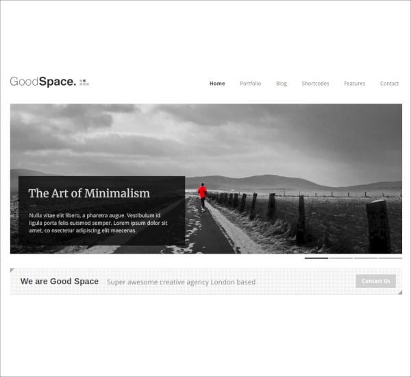 responsive minimal wp theme