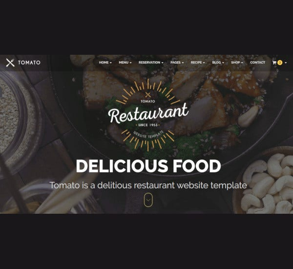 restaurant website responsive html5 template