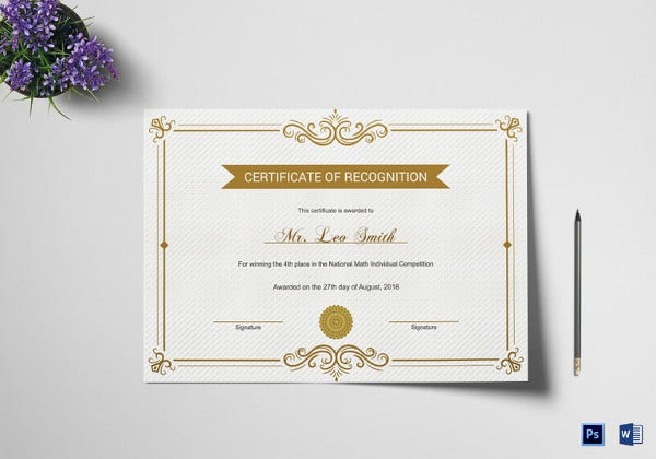 school recognition certificate template