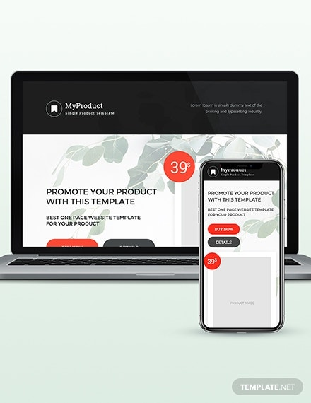 single product wordpress theme template 1
