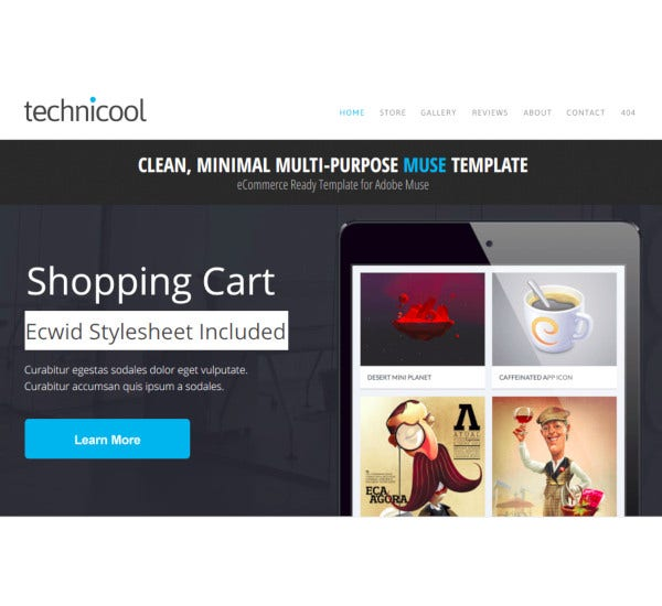 technicool ecommerce template