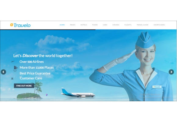 travel tour booking responsive wordpress theme
