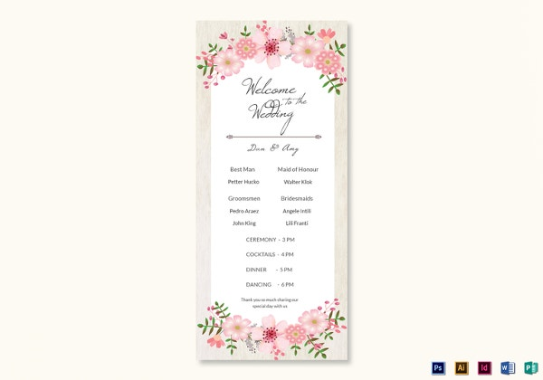 vintage-floral-wedding-program-card