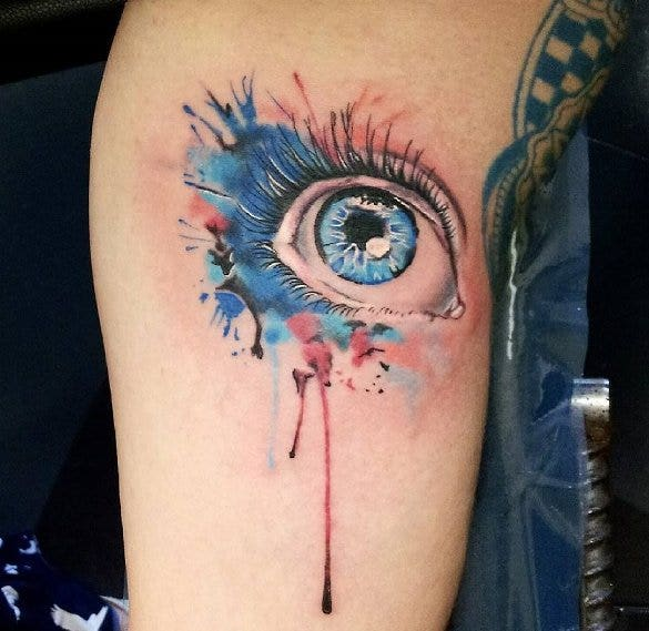 watercolor eye tattoo best design1