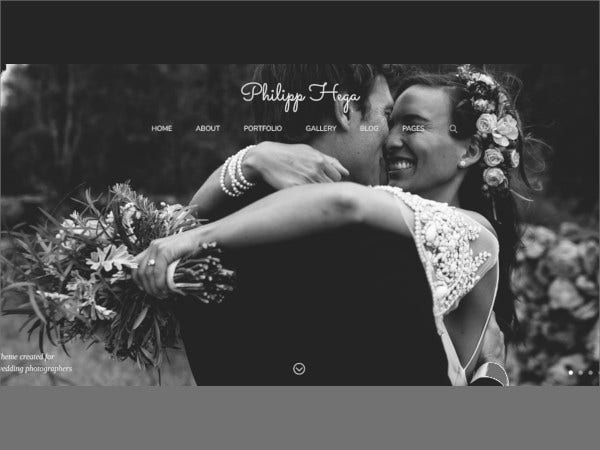 wedding photography portfolio wordpress theme1