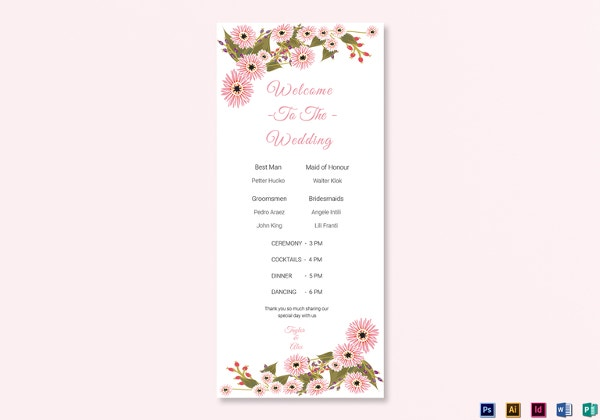 25 Wedding Program Templates Psd Ai Eps Publisher