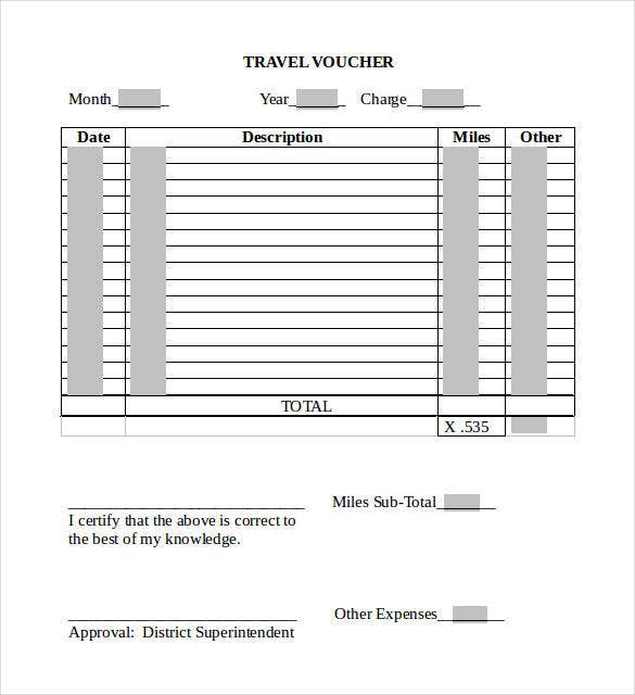 word 2010 format travel voucher template free download1