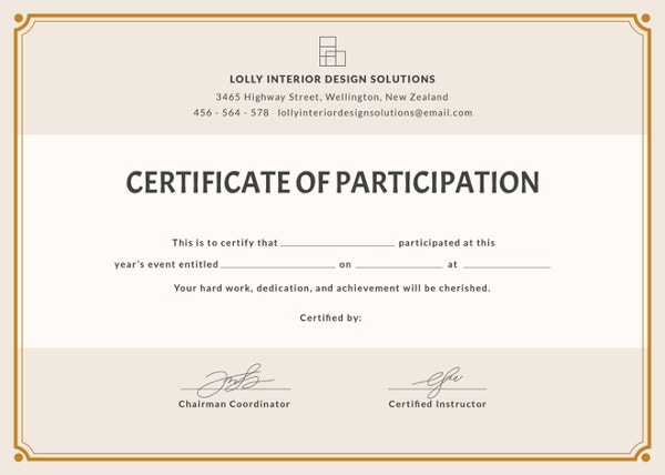 blank certificate template3