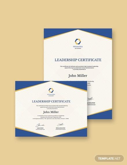 Leadership Certificate Template 11 Word Pdf Psd Format Download