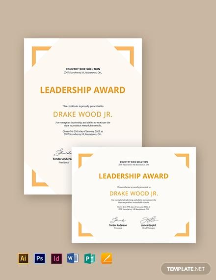 simple leadership certficate
