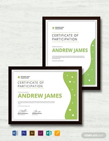 Creative Sports Certificate Template