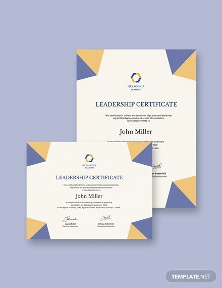 student leadership certificate