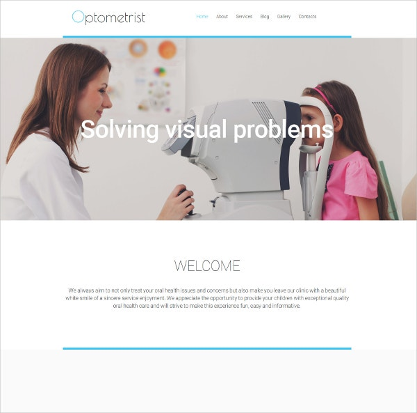 Optometrist's Medical Website Moto CMS 3 Template $199