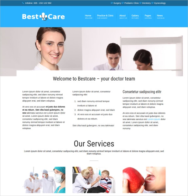 Medical WordPress Website Theme $69