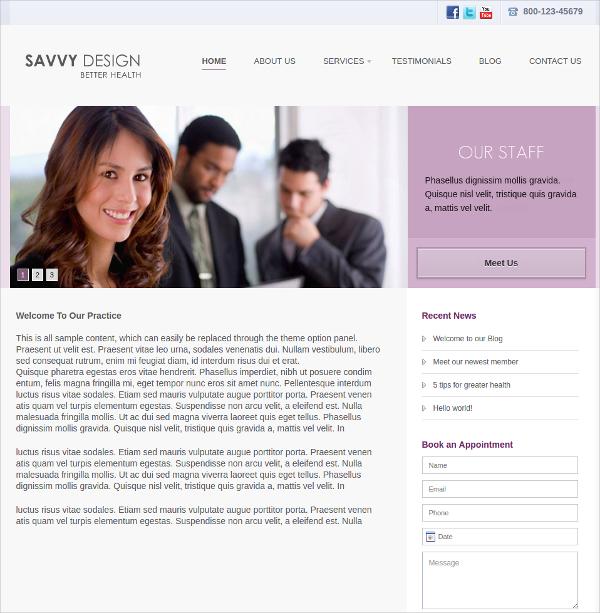 modern medical wordpress website theme 50