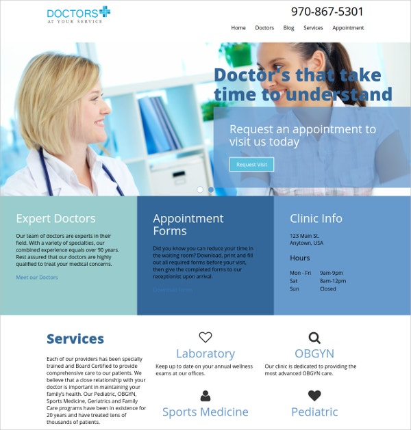doctor medical wordpress website theme 16