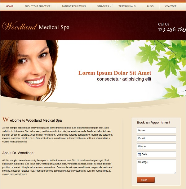 Medical Spa Webiste Theme $50