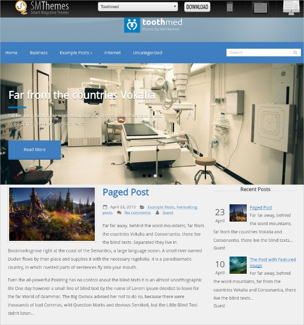 Free Dental Medical WordPress Webiste Theme