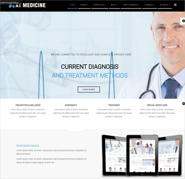medical joomla website template 19