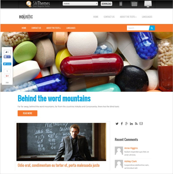 Free Personal Medical WordPress Webiste Theme